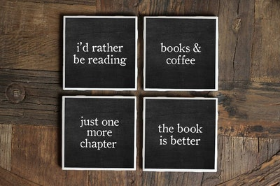 Bookish Coasters