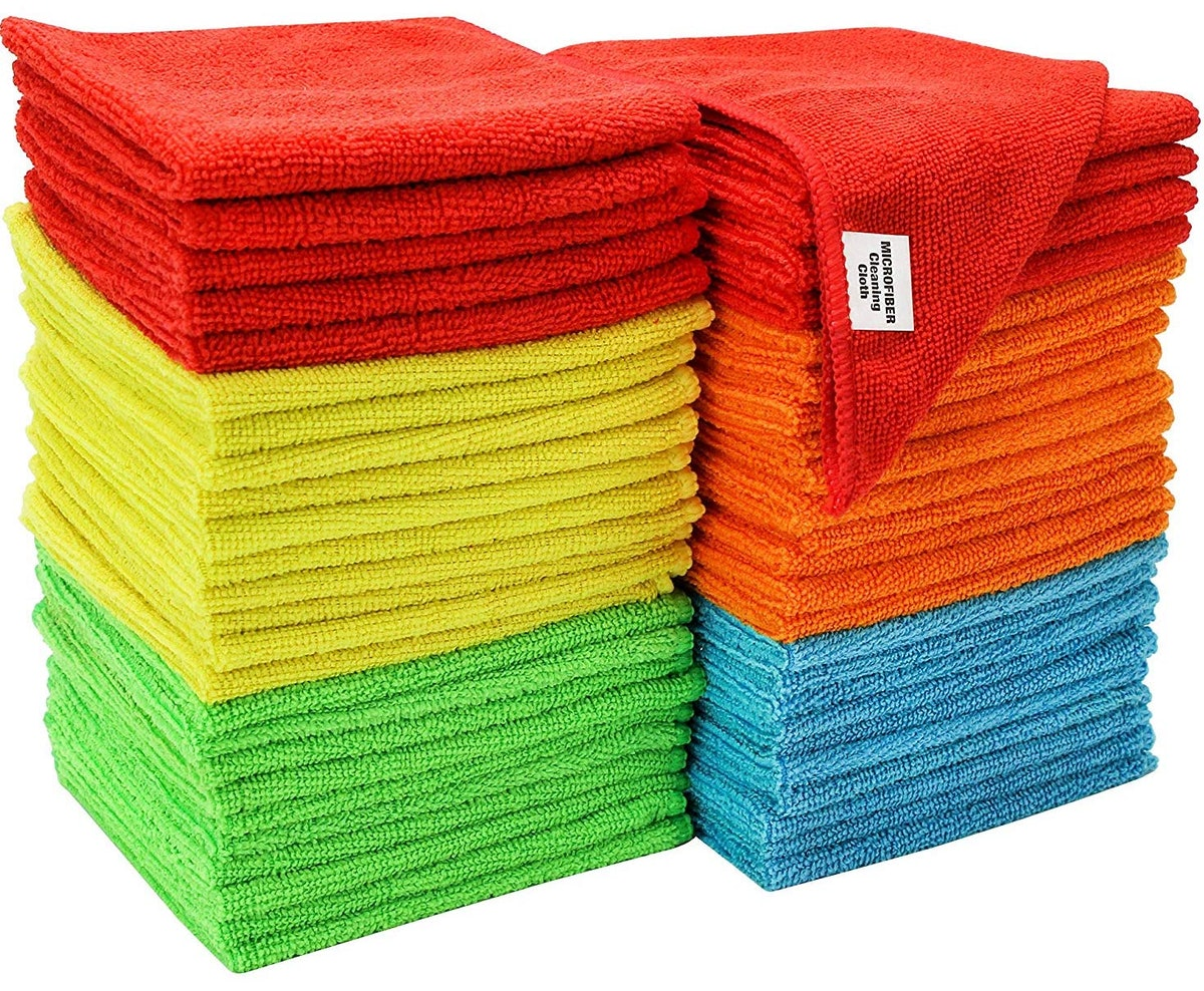 S & T Assorted Microfiber Cleaning Cloth (Set Of 50)