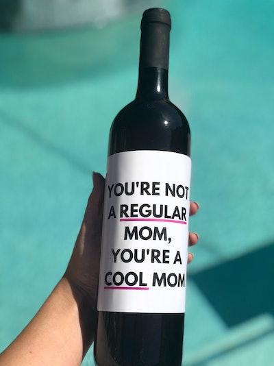 Cool Mom Wine Label
