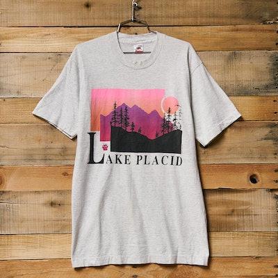 Vintage Lake Placid Sunset Tee
