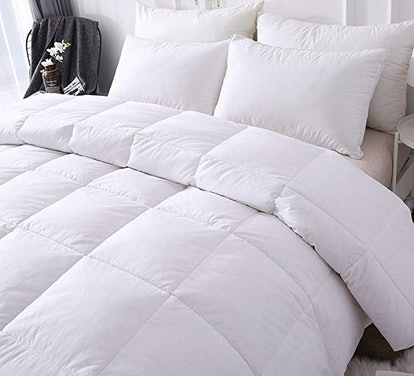 DOWNCOOL 100% Cotton Quilted Down Comforter