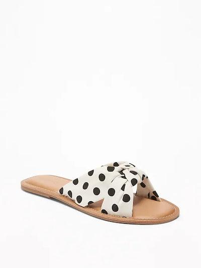 Knotted-Twist Slide Sandals