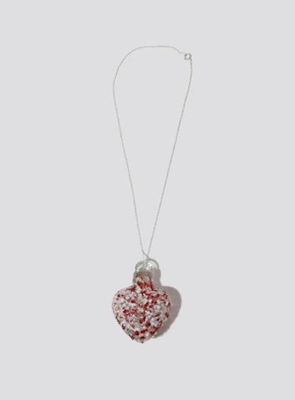 Alexa De La Cruz Speckled Red Glass Heart