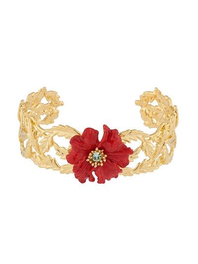 Golden Fields Poppy Cuff Bracelet