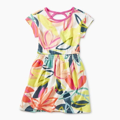 Printed Keyhole Dress