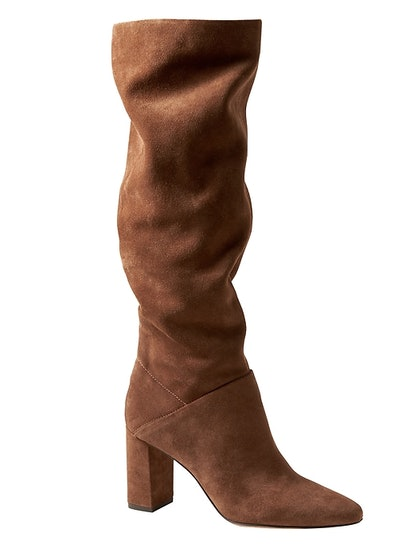 Suede Tall Slouchy Boot