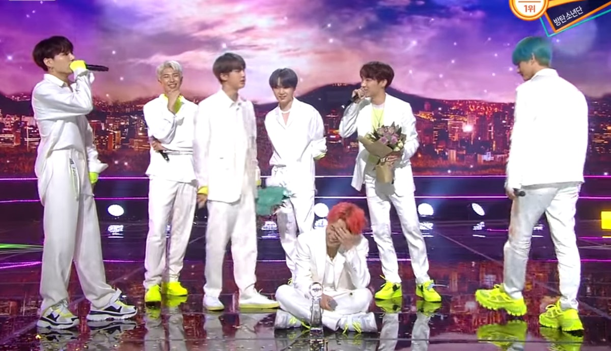 "The Videos Of BTS' 'Music Bank' Performances Of ""Boy With Luv"" & ""Dionysus"" Are So Hot"