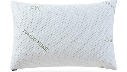 Yuking Home Gel-filled Fiber and Latex 2-In-1 Pillow