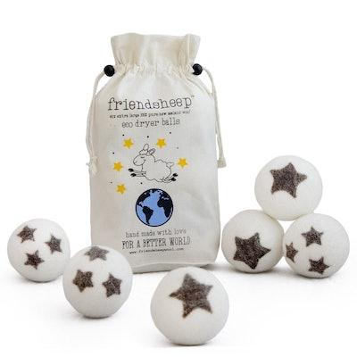 Friendsheep Organic Eco Wool Dryer Balls (6 Balls)