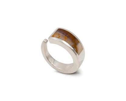 Jasper Ring Silver