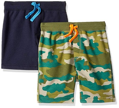 LOOK by crewcuts Boys' 2-Pack Knit Pull-On Shorts