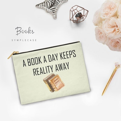 """""""A Book A Day Keeps Reality Away"""" Kindle Sleeve"""
