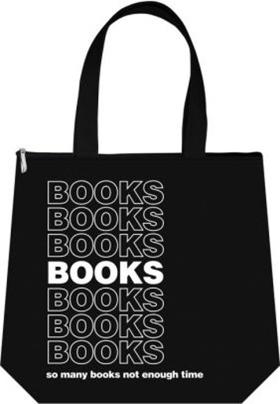 Books Books Books Tote (With Zipper)