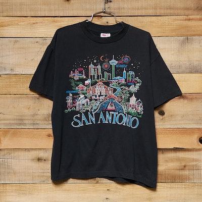 Vintage San Antonio City Map Tee