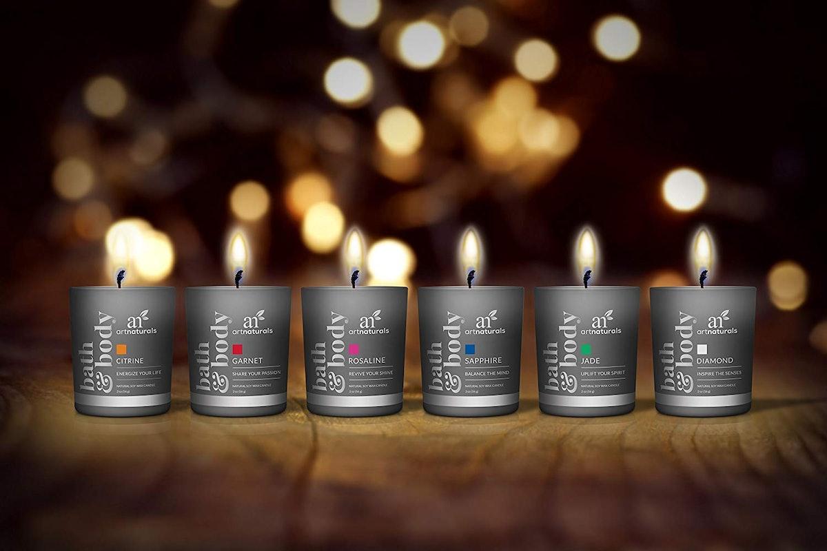 ArtNaturals Scented Candles Gift Set (Set of 6)