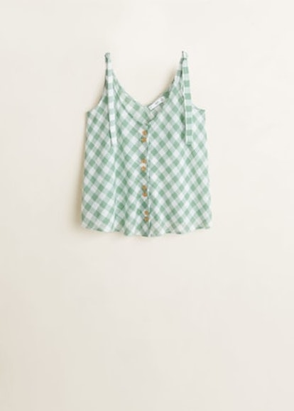 Bows Buttoned Top