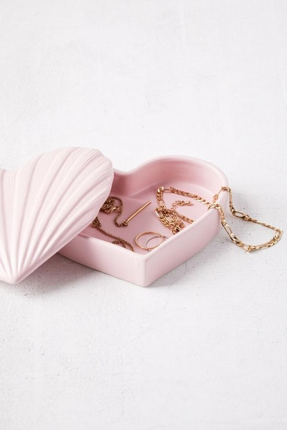 Heart Shell Ceramic Stash Box
