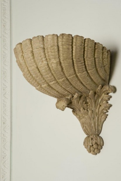 Scallop Shell Wall Plinth By Rose Uniacke