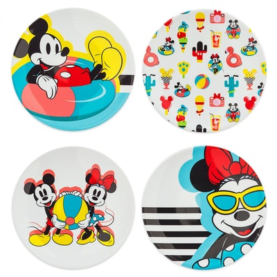 Mickey and Minnie Mouse Plate Set - Disney Eats