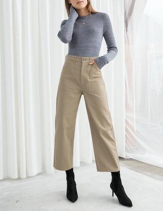 Workwear Culotte Pants