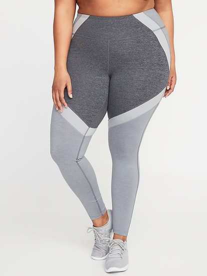 High-Rise Color-Block Elevate Compression Leggings