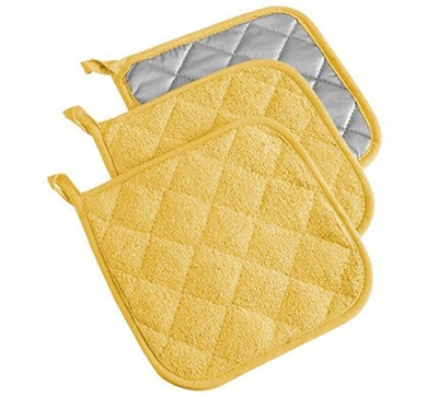 DII Cotton Terry Pot Holders (3 Pack)