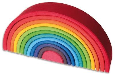 Grimm's Large 12-Piece Rainbow Stacker