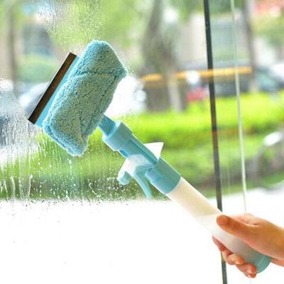 3-in-1 Spray Squeegee Microfiber Window Cleaner