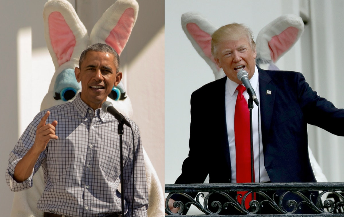 Trump's Vs. Obama's Easter Egg Roll Speeches Are Not On The Same Page