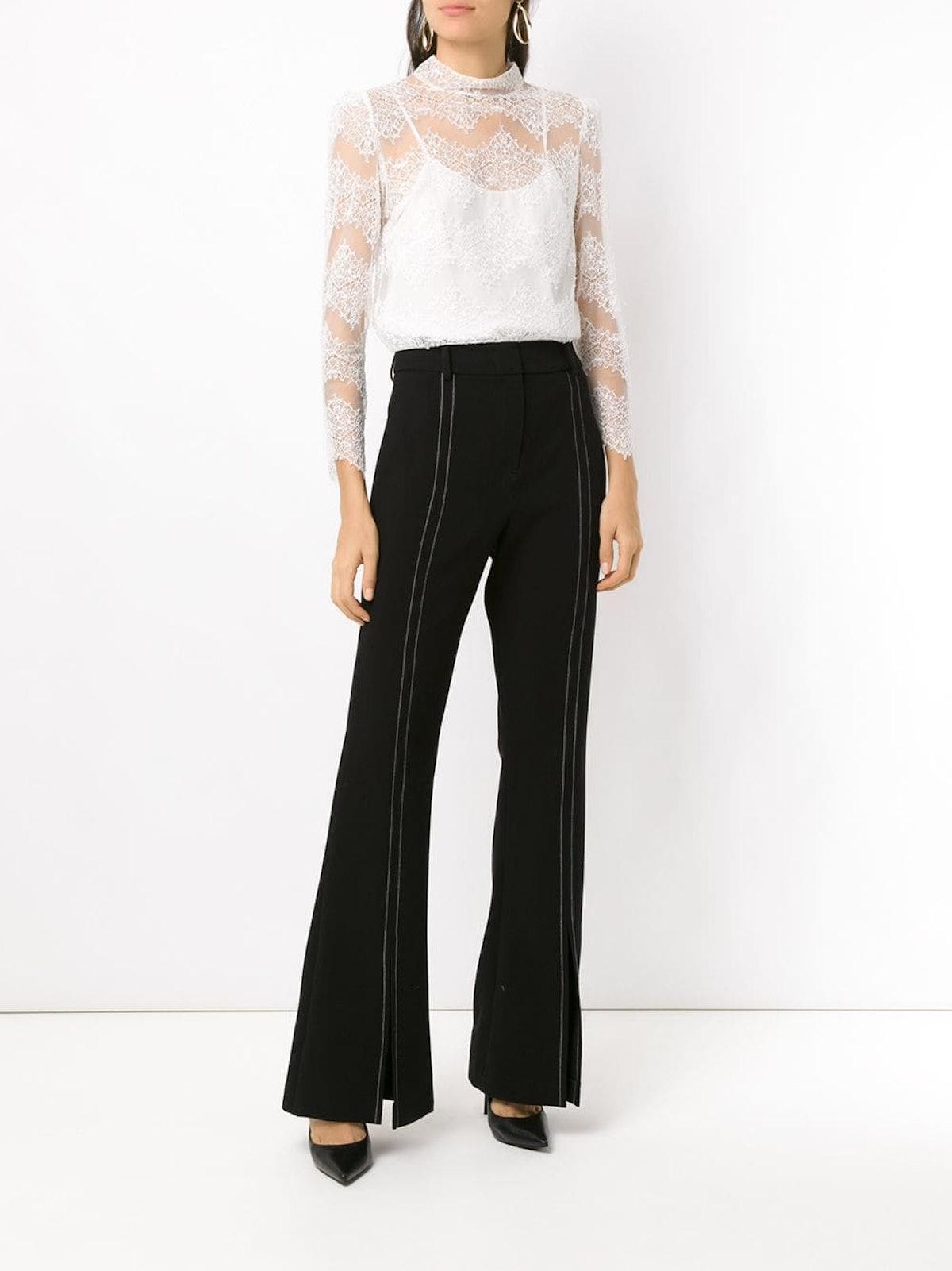 Front-Slit Flared Pants