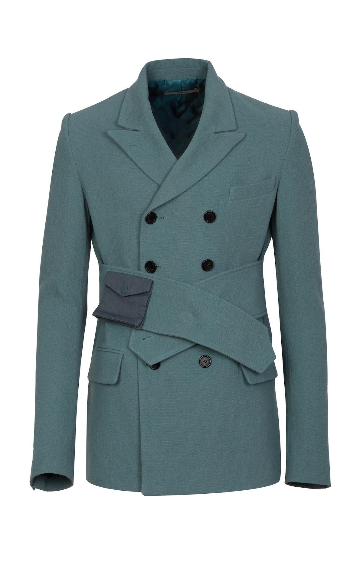 Tailored Cotton Belted Blazer