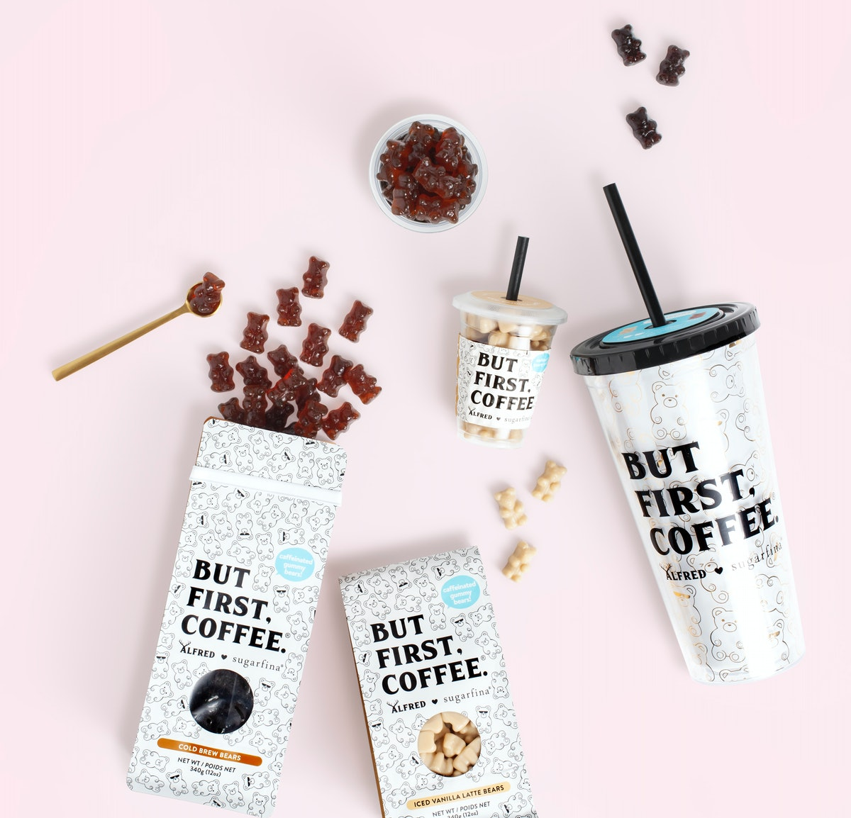 This Sugarfina x Alfred Coffee Gummy Bear Collection Features The Cutest Pick-Me-Ups
