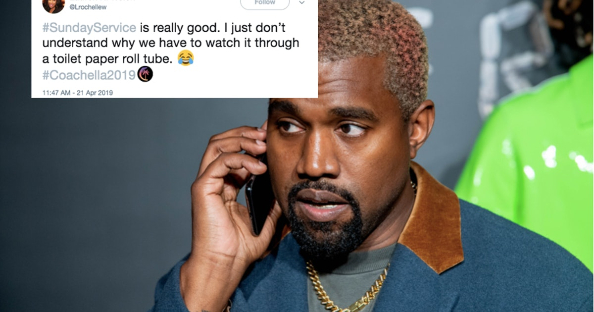 These Tweets About Kanye's Sunday Service At Coachella Have An Unusual Complaint