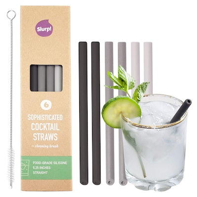 Slurp Straw 6 Pack and Cleaning Brush