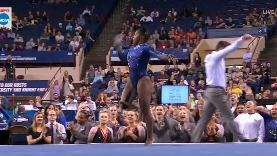 Floor Routine At The 2019 NCAA