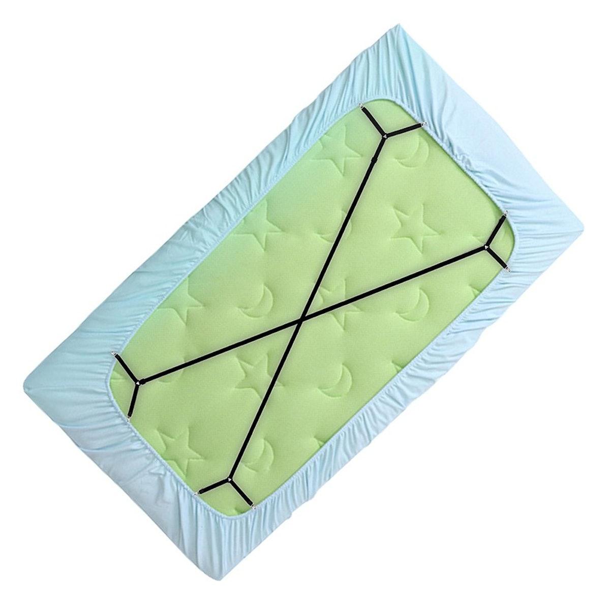 CoZroom Triangle Bed Sheet Fastener Straps (4 Straps)