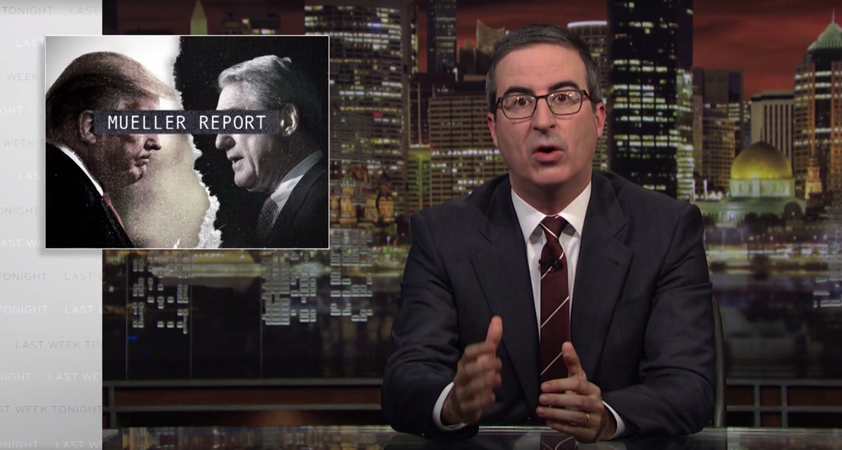 "John Oliver's Mueller Report Take Argues That ""Incompetence"" & ""Disobedience"" Saved Trump"