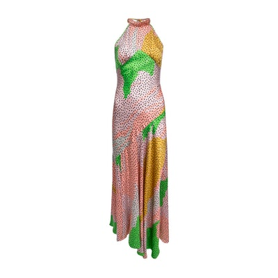 Vivienne Dress in Havana Silk Satin