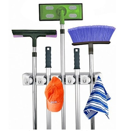 Home-It Broom Holder Wall Mount