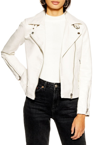 Lucky Faux Leather Biker Jacket