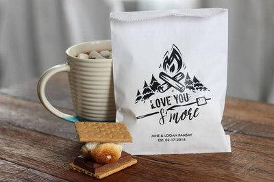 Love You S'more Wedding Favor Bags