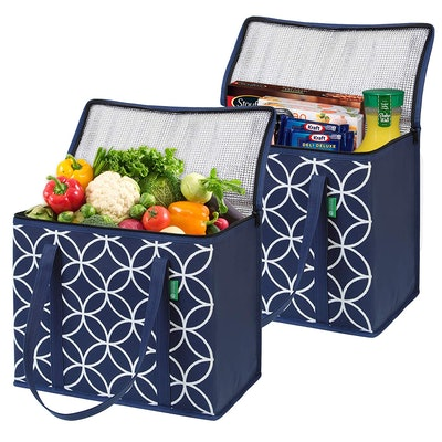 Creative Green Life Insulated Grocery Shopping Bags (2 Pack)