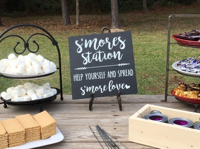 Wedding S'mores Sign