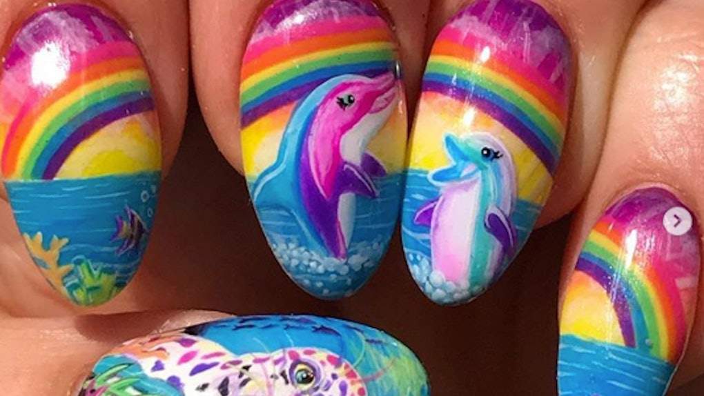 The Lisa Frank Nail Art Trend Will Remind You Of Your Favorite \'90s ...