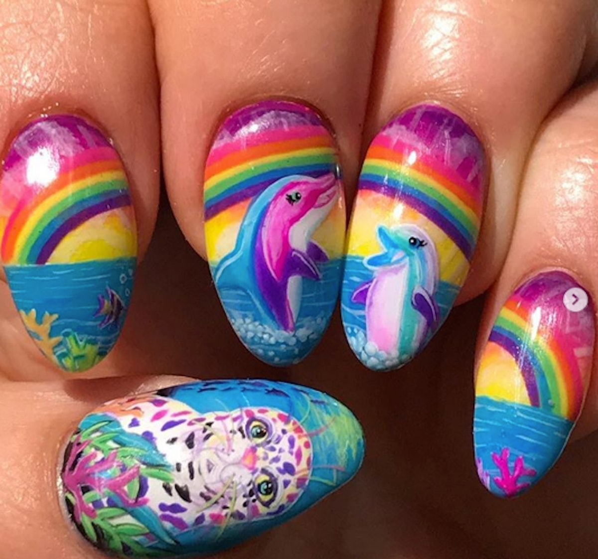 The Lisa Frank Nail Art Trend Will Remind You Of Your Favorite '90s School Supplies