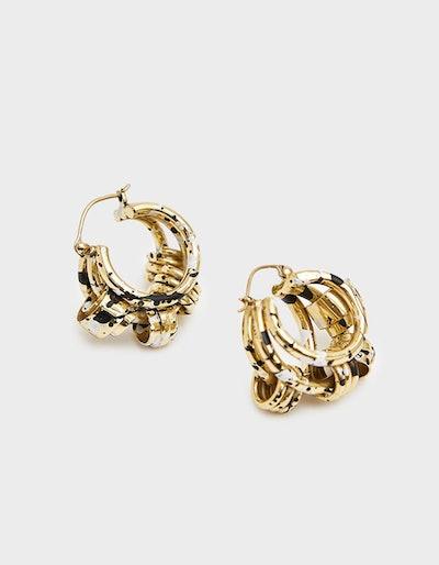 Nelson Splatter Coiled Earrings