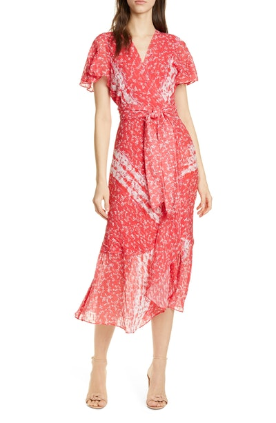 New Blaire Floral Silk and Cotton Dress