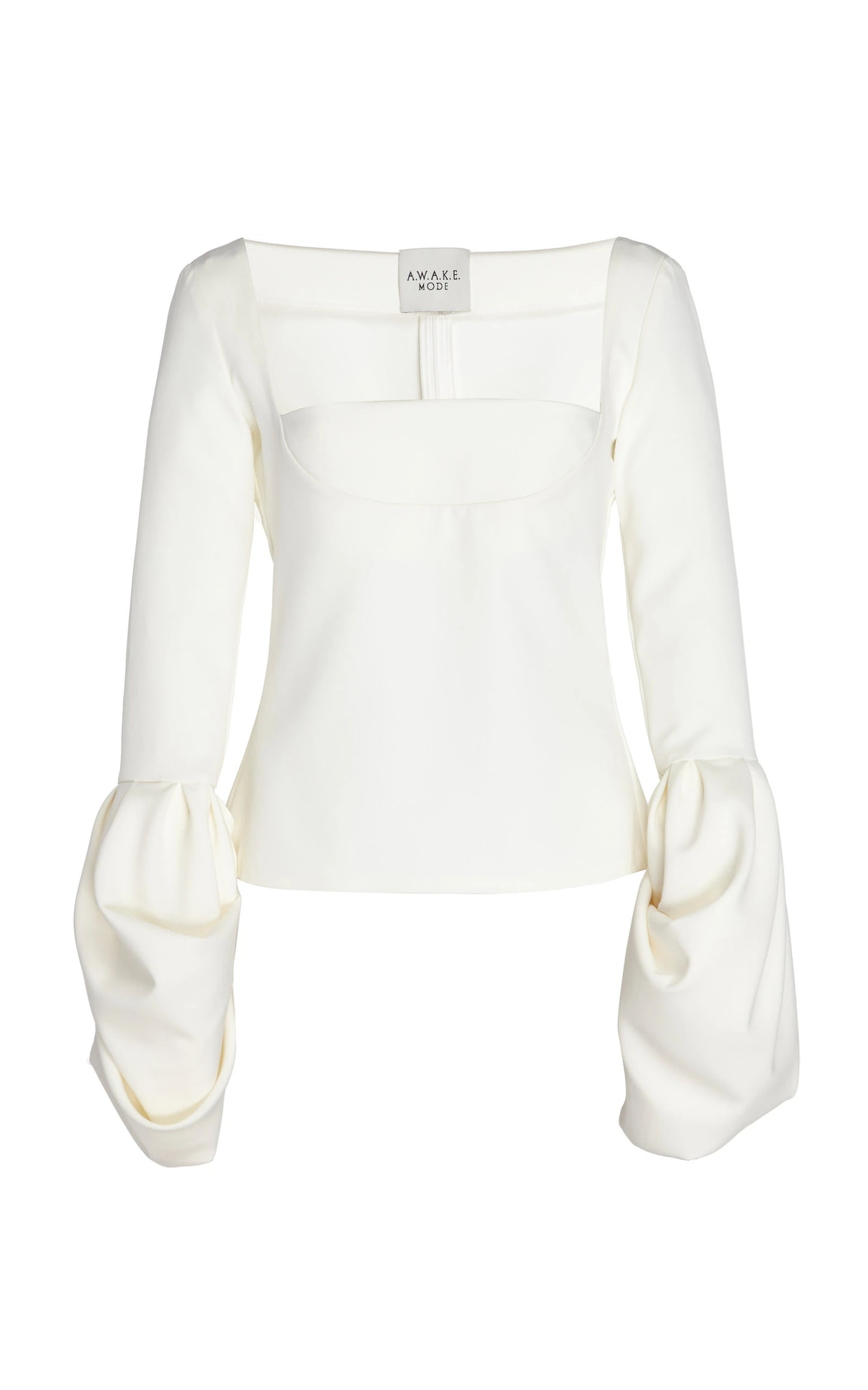 Fitted Puff Crepe Top
