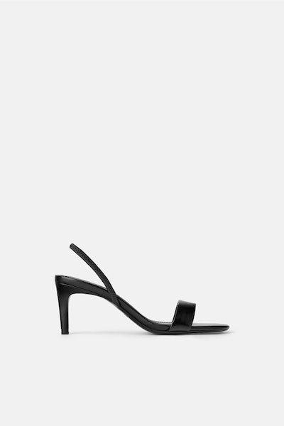 Leather High Heeled Sandals