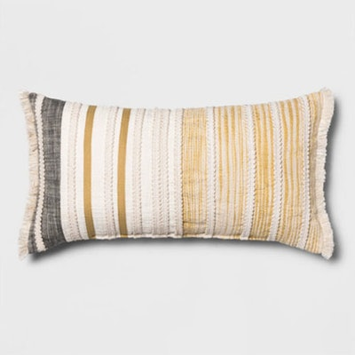 Patched Oversize Throw Pillow